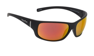 Ugly Fish Polarised Eclipse Sunglasses PC3411 Matt Black Frame Red Revo PC Lens