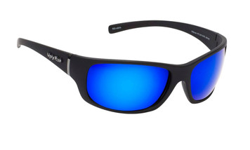 Ugly Fish Polarised Eclipse Sunglasses PC3411 Matt Black Frame Blue Revo PC Lens