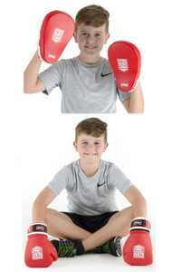 Red Corner Boxing Junior Spar Focus Kit with Gloves