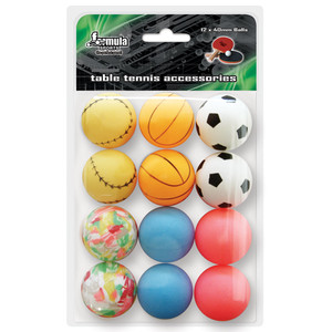 Formula Sports Novelty Table Tennis Balls 12 Pack