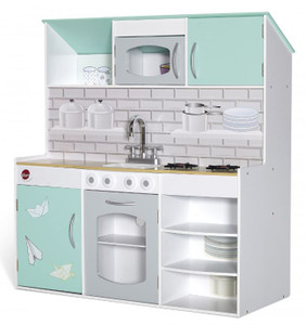 PLUM PEPPERMINT 2 IN 1 KITCHEN AND DOLLS HOUSE