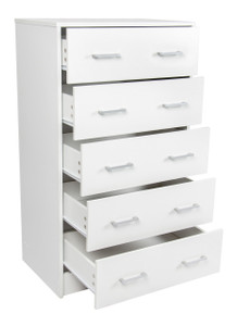 Griffin Chest of 5 Drawers - White