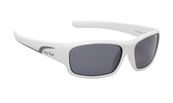 Ugly Fish Junior Polarised Sunglasses PK 255 White Frame Smoke Lens