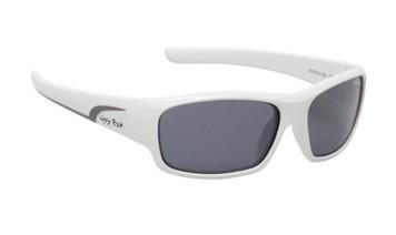 Ugly Fish Junior Polarised Sunglasses PK 255 White Frame Smoke Lens