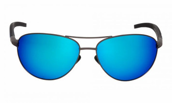 Ugly Fish Triacetate(TAC) Polarised Sunglasses PT24999 Gun Metal Frame Blue Lens