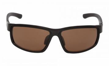 Ugly Fish Nylon Polarised Sunglasses Crest PT24006-Matt Black Frame/Brown Lens
