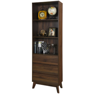 ANDERSON Walnut 3 Shelf Bookcase