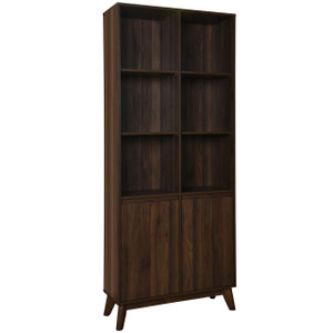 ANDERSON Walnut 6 Shelf Bookcase