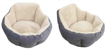 High Back Fleece Pet Bed Large