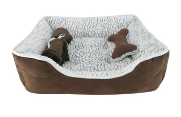 Fleece Pet Bed 3PC Set
