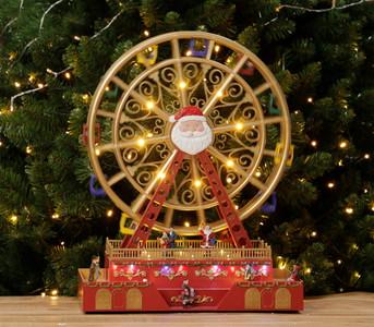 LED Musical Ferris Wheel Spinning