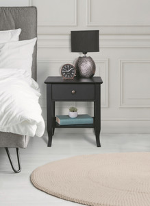Black Carman Bedside Table