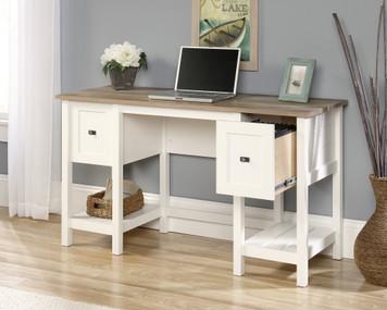 Sauder - White & Natural Cottage Road Office Desk