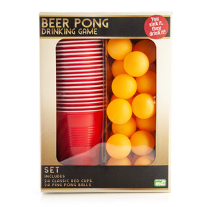 Beer Pong Set with 24 Balls!