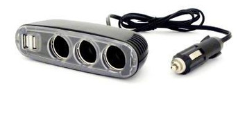 Oztrail 12V Extension Lead with Triple Outlets & Twin USB Ports