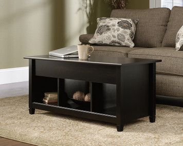 Edgewater Collection - Lift-top Coffee Table - Estate Black Finish