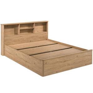 Kodu - Anderson Queen Bed with Bookcase Headboard - OAK