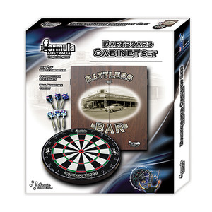 Formula Sports Battlers Bar DartBoard Cabinet Set
