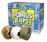 Bonus clear polypropylene hotmelt tape 48mm x 200m (36 pack)