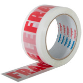 'Fragile' printed tape 48mm x 66m (36 pack)