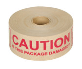 Reinforced caution gummed paper tape 70mm x 152m (6 pack)