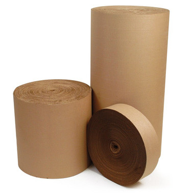 Single Face Corrugated Rolls. 100% recycled paper. Biodegradable. Large range of sizes, if the size you require is not here please contact us. Available in pads and rolls with creasing available. We also supply a large range of speciality single face grades from commercial 'C' flute grade corrugated roll or sheet to a pre-printed C,B,E or microflute product.