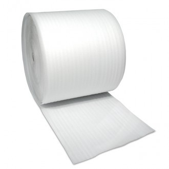Foam rolls. Non abrasive and lightweight material, ideal surface protection for delicate items.  Foam thickness is 1mm.  Sold as individual rolls.