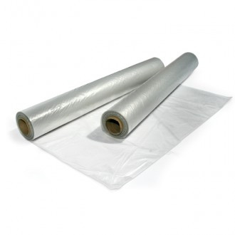 Polythene sheeting with centre fold for easy handling. Ideal for protecting goods in storage or transit from moisture and dust.