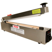 PBS-400-CSS Stainless steel heat sealer with cutter