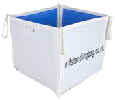 Self standing, hard sided storage bag 105 x 105 x 100cm