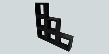 Black Display Cubes