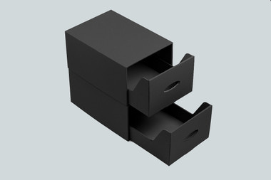 Black DVD & CD storage unit