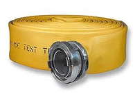 "JAFRIB Municipal Supply Fire Hose 100', Storz Aluminum Couplings, Choose 4"" or 5"" Hose"