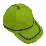 ANSI Lime Hi Vis Baseball Cap Style Safety Cap