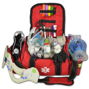 Deluxe Stocked Large EMT First Aid Trauma Bag Fill Kit w/ Emergency Medical Supplies