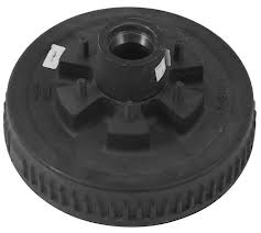"""Electric/Hydraulic Brake drum, fits over a 12""""x2"""" brake, 6 bolt, 3000# Capacity. Uses 25580 & 15123 Bearings. Comes with races & studs pressed in."""