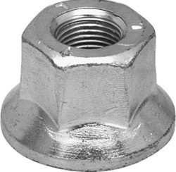 "5/8"" Fine Thread Solid Flange Wheel Nut, Commonly used with Plate Style Wheels"