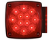 Miro-Flex LED Trailer Tail Light - 6 Function - Submersible - 18 Diodes - Square - Red - Passenger (#STL-28RB)
