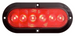 "Optronics - STL12 Series FLEET Count 6"" Oval Sealed LED Stop/Turn/Tail Light (#STL73RB)"