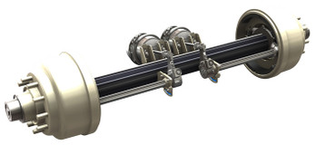 Not Actual Axle. The new axle will not come with brake chambers, will be a 10 bolt, long studs, oil bath, Meritor Big Brake Axle, NON-ABS equipped axle This will be a pallet item