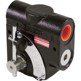 Brand Hydraulics Side-Ported Adjustable Flow Control Valve — #12 SAE ports, 0–30 GPM