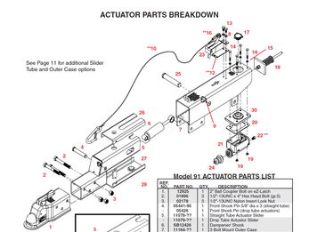 Product is depicted as #6 in the breakdown. They are the same shock for all actuators.