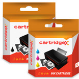 Compatible High Capacity Hp 339 Black & Hp 344 Tri-colour Ink Cartridge Multipack (Hp C8767ee & C9363ee)