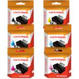 Compatible 6 Colour Epson T0807 Ink Cartridge Multipack (T0801 T0802 T0803 T0804 T0805 T0806 C13t08074010)