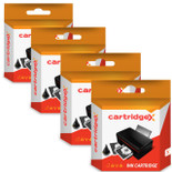 Compatible 4 X Black High Capacity Ink Cartridges For Hp 300xl / 300 Cc641ee