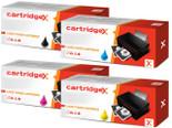 Compatible 4 Colour Hp 646x / 646a Ce264x Cf031a Cf032a Cf033a Toner Cartridge Multipack