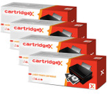 Compatible 4 X Toner Cartridge For Hp Ce255x 55x Hp55x