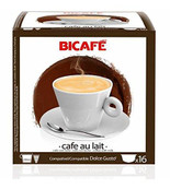 Coffee Capsules BiCafe Cafe Au Lait Compatible with Dolce Gusto Pods 16 Packs