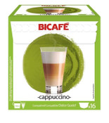 Coffee Capsules BiCafe Cappuccino Compatible with Dolce Gusto Pods 16 Packs