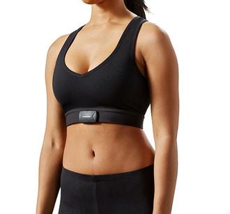 Sensoria Fitness biometric smart Sports bra with cardiac sensor and heart rate monitor (front)